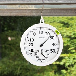 【新商品】アナログ温湿度計「オプティブ」